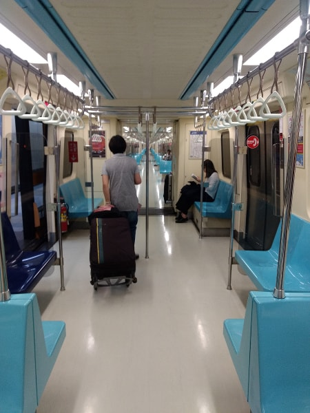 Inside Taipei MRT carriage